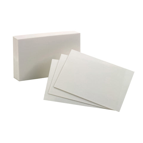 OXFORD INDEX CARDS 4X6 PLAIN WHITE