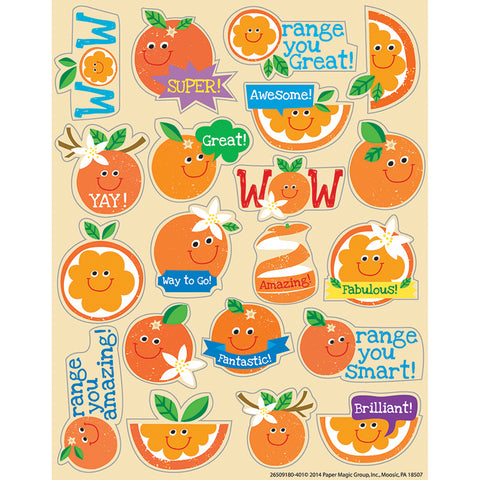 ORANGE SCENTED STICKERS