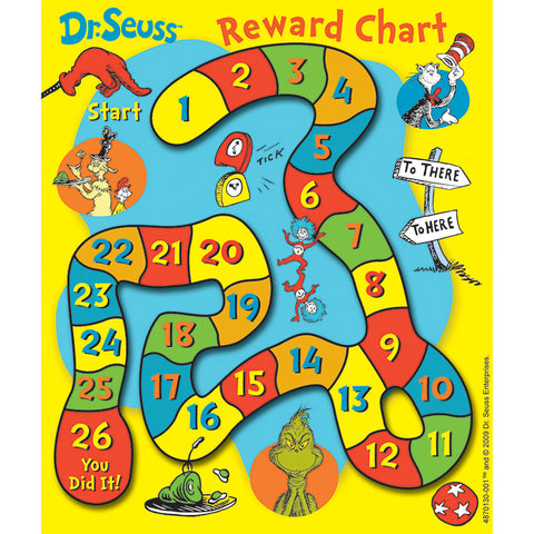 DR SEUSS GAME MINI REWARD CHARTS