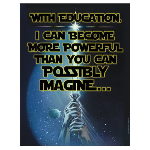 STAR WARS POWER OF EDUCATION POSTER