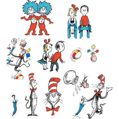 CAT IN THE HAT CHARACTERS 2 SIDED