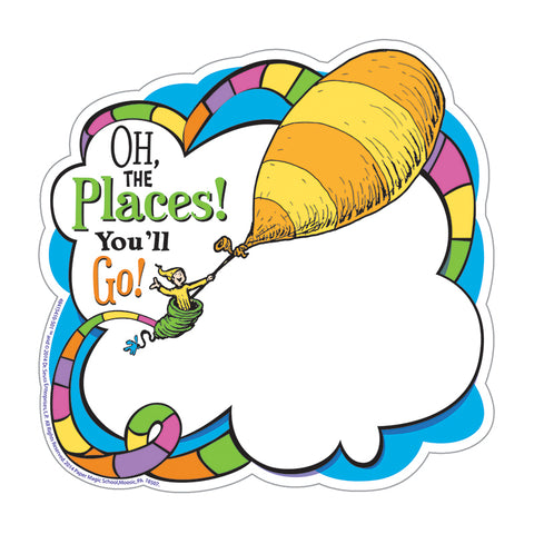 DR SEUSS OH THE PLACES PAPER CUT