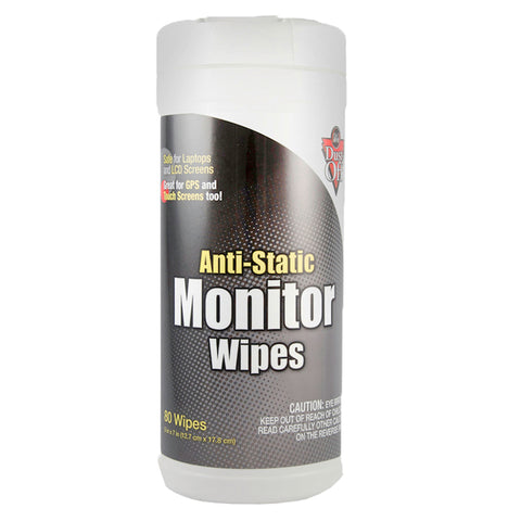 ANTI STATIC MONITOR WIPES 80 CT