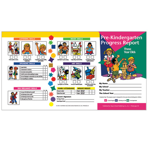 PRE KINDERGARTEN PROGRESS REPORT 10