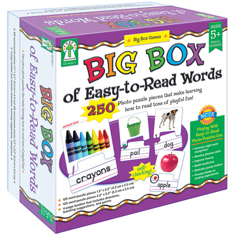 BIG BOX OF EASY TO READ WORDS GAME