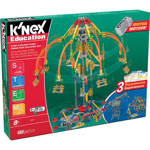 KNEX STEM SWING RIDE BUILDING SET