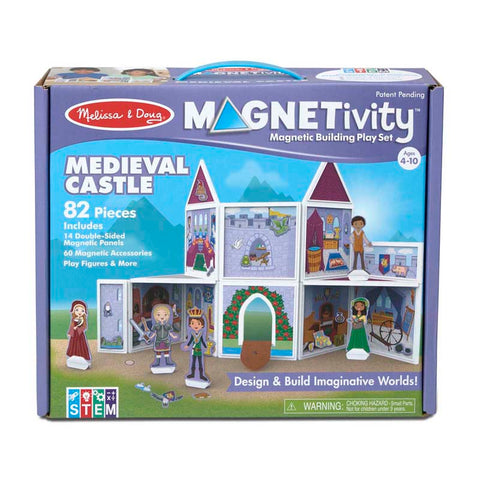 BUILDING PLAY SET MEDIEVAL CASTLE