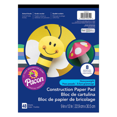 (12 EA) CONSTRUCTION PAPER PAD 9X12