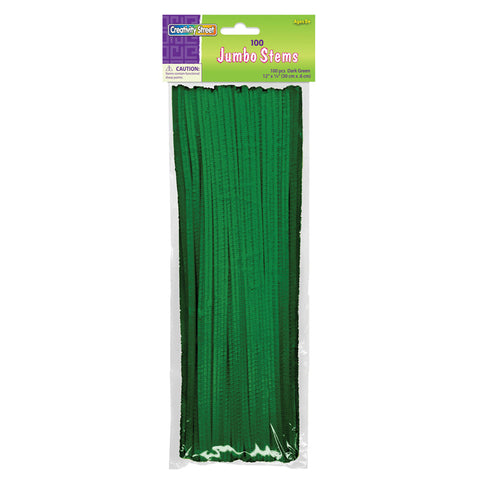 JUMBO STEMS DARK GREEN 100 PIECES
