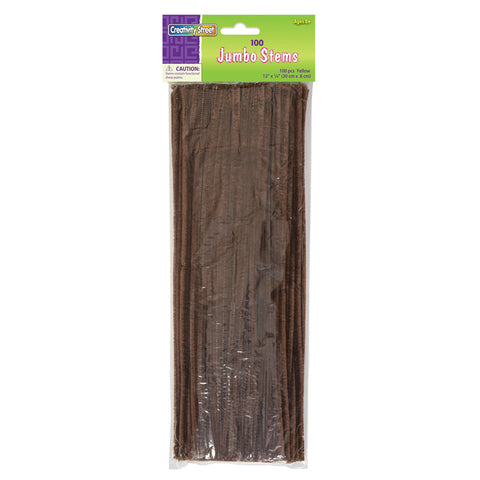 JUMBO STEMS BROWN 100 PIECES