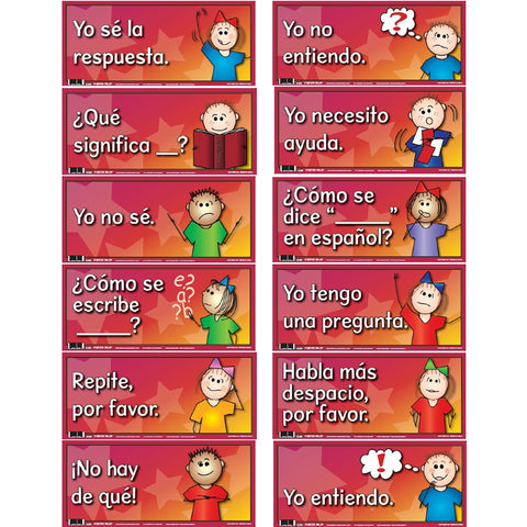 DOOR SIGNS SET OF 12 SPANISH