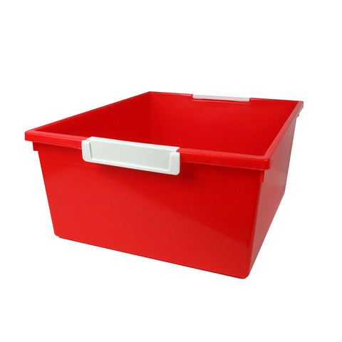 12QT RED TATTLE TRAY W LABEL HOLD
