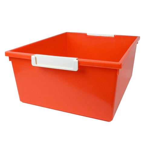 12QT ORANGE TRAY W LABEL HOLD