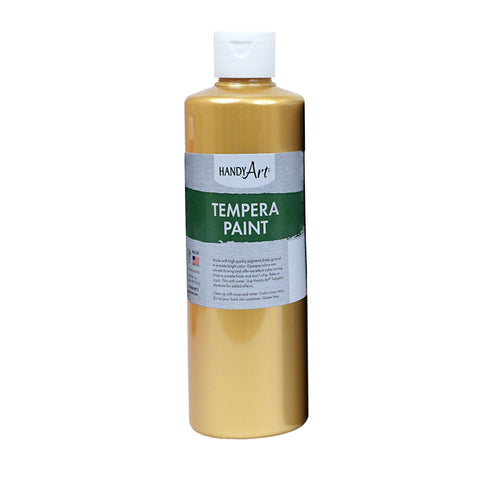 16OZ METALLIC GOLD TEMPERA PAINT