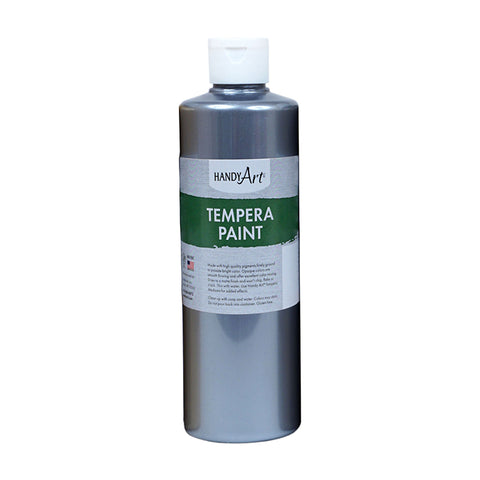 16OZ METALLIC SILVER TEMPERA PAINT