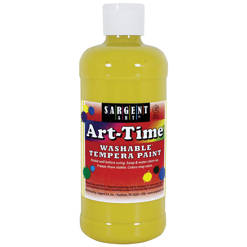 YELLOW ART-TIME WASHABLE PAINT 16OZ