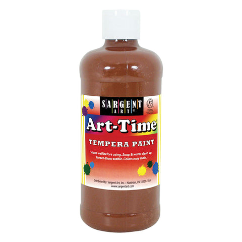 (12 EA) BROWN ART-TIME 16 OZ
