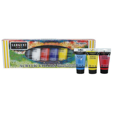 10CT ACRYLIC TUBE SET 75ML EACH