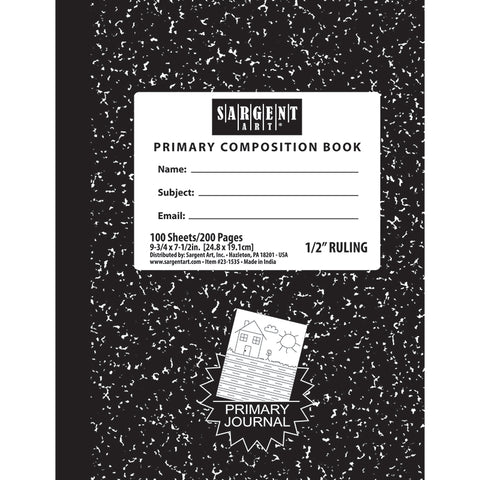 100 SHEETS HARD COVER PRIMARY RULED