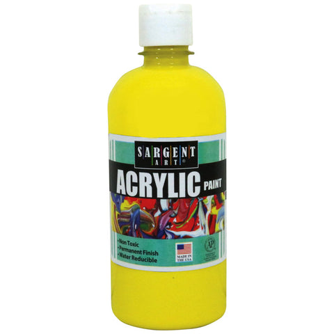 16OZ ACRYLIC PAINT - YELLOW