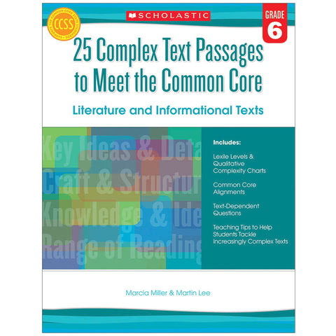 GR 6 25 COMPLEX TEXT PASSAGES TO