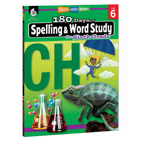 180 DAYS SPELLING & WORD STUDY GR 6