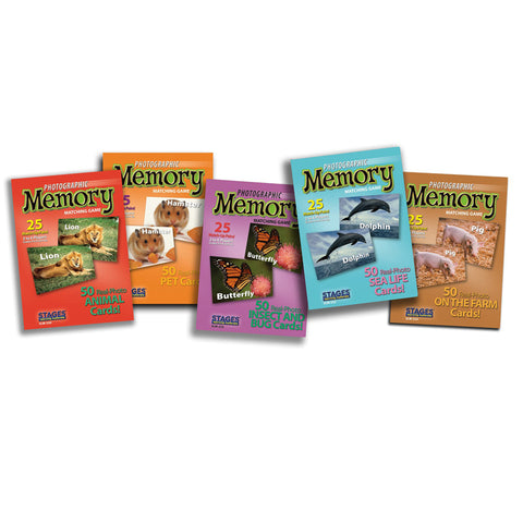 ANIMAL MEMORY GAME SET OF 5