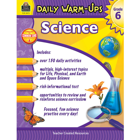 DAILY WARM UPS SCIENCE GR 6