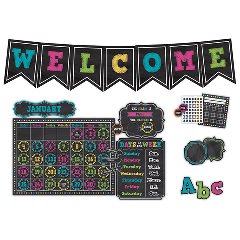 CHALKBOARD BRIGHTS CLASS DECOR SET