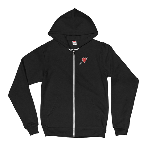Heart & Love zip-up hoodie