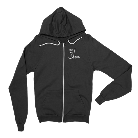 3Ten Unisex Zip-up Hoodie