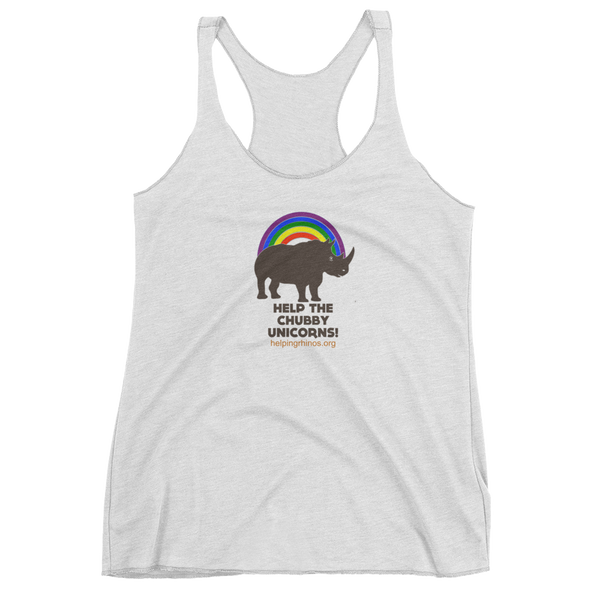 Chubby Unicorn Women's Tank Top-3 colors available