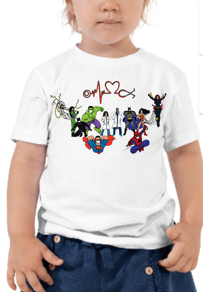 "Medical Superhero Kid's tees (50% of the proceeds goes to ""Chase Child Life"")"