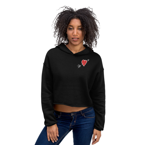 Heart Crop-top women's hoodie