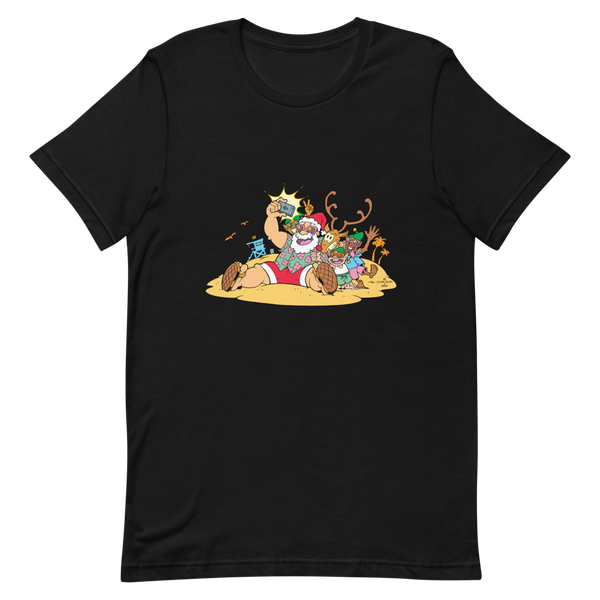 Santa at the Beach Tee