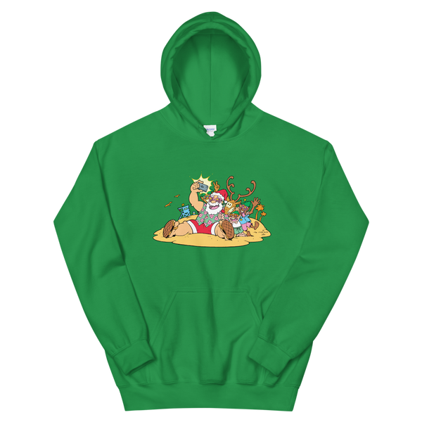 Santa at the Beach Hoodie