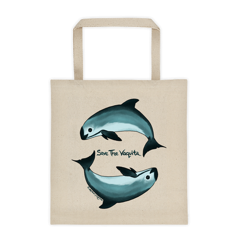 Save the Vaquita Canvas Tote
