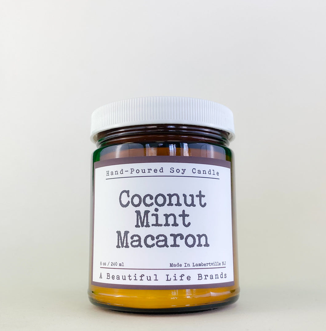 Coconut Mint Macaron Candle by ABL