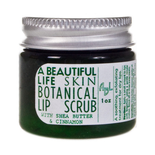 A Beautiful Life Lip Scrub with Shea Butter and Cinnamon