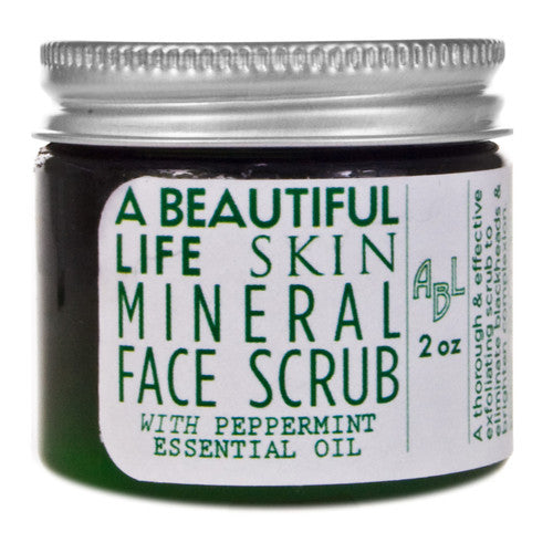 A Beautiful Life Mineral Face Scrub with Peppermint