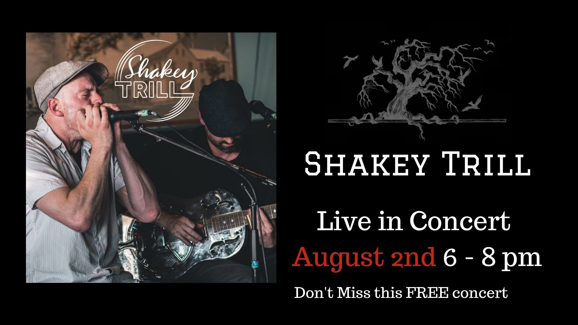 Shakey Trill Concert - Coffin Ridge Boutique Winery Inc