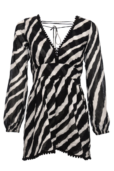 Indah Zebra Print Adila Mini Dress (X-Small)