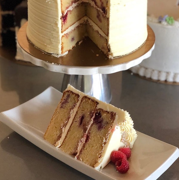 Raspberry White Chocolate Cake