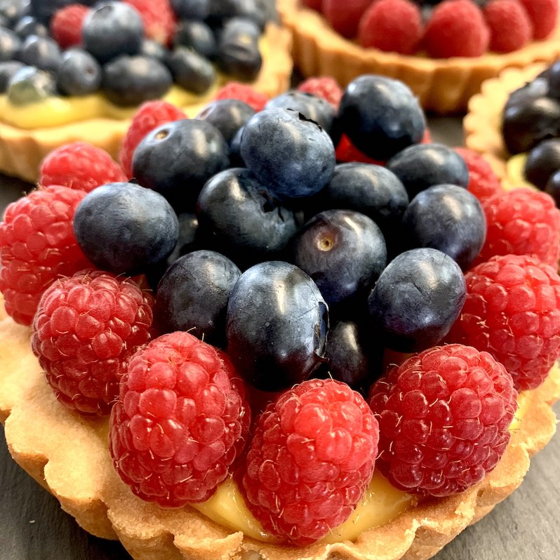 Lemon Fruit Tarts