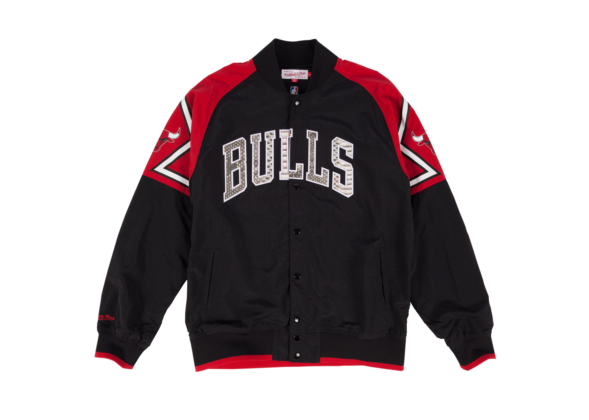 "Mitchell & Ness Chicago Bulls ""Nothing But Net"" Python Warm Up Jacket"