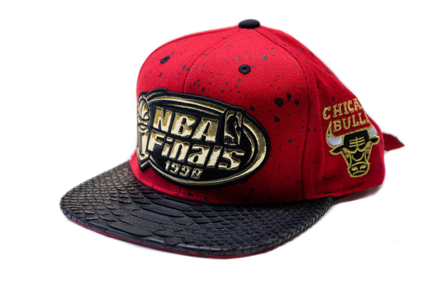 HATSURGEON x Mitchell & Ness Chicago Bulls 1998 NBA Finals Gold Strapback