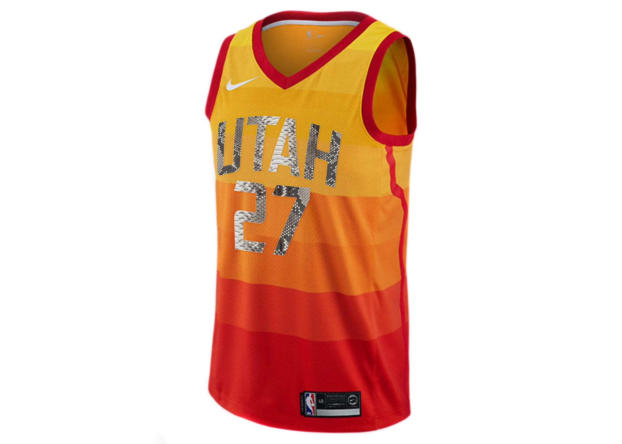 low priced 2bf09 27e7a Nike Rudy Gobert Utah Jazz City Edition Python Jersey