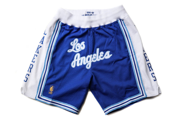 "Mitchell & Ness Los Angeles Lakers 1996-1997 ""LOS ANGELES"" Royal Blue Shorts"
