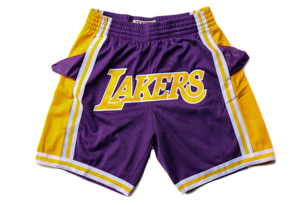 "Mitchell & Ness Los Angeles Lakers 1996-1997 ""Lakers"" Swingman Shorts (Away)"