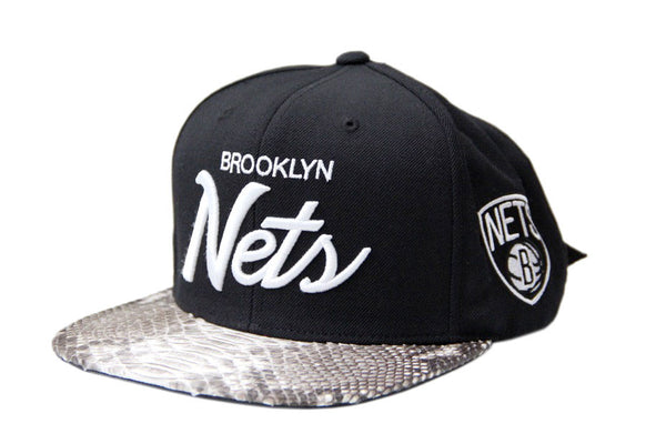 HATSURGEON x Mitchell & Ness Brooklyn Nets The Script Natural Strapback